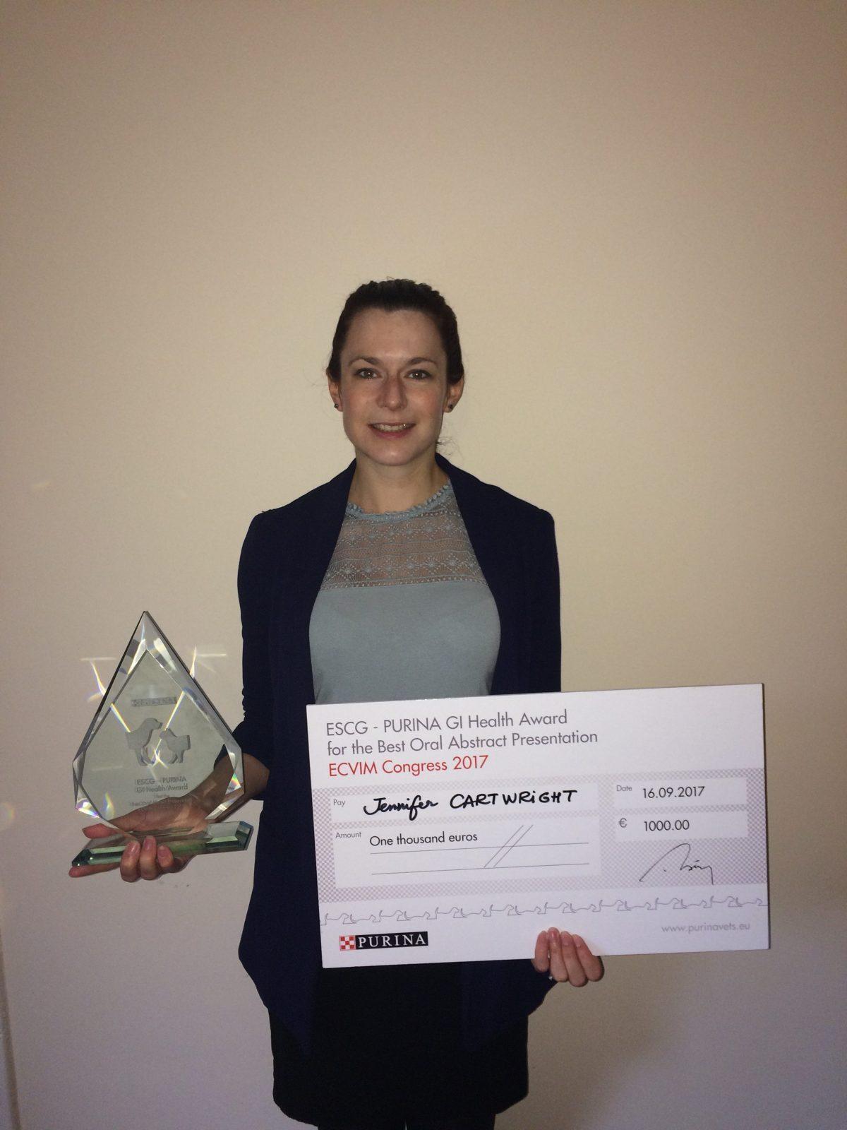 VitDAL MSc student wins European Society of Comparative Gastroenterology award